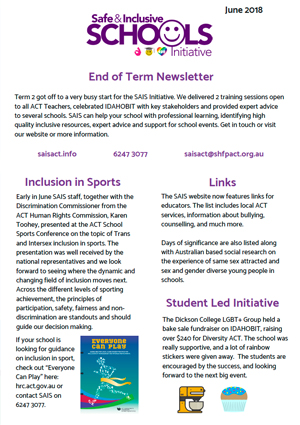 SAIS Term 2 Newsletter | July 2018